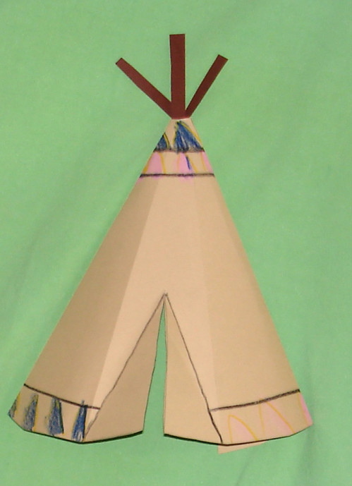 tipi basteln kinderspiele. Black Bedroom Furniture Sets. Home Design Ideas