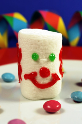 Clown aus Marshmallows
